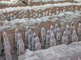 Chinees terracotta leger te zien in New Babylon